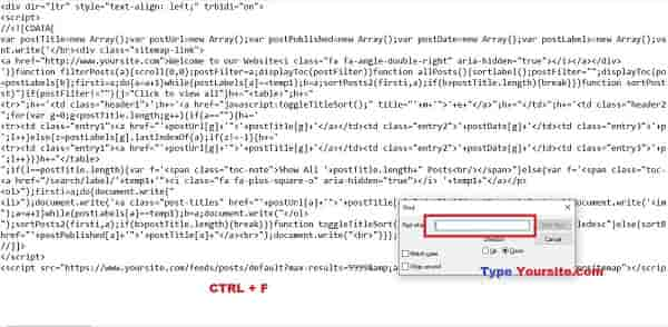 Create-sitemap-page