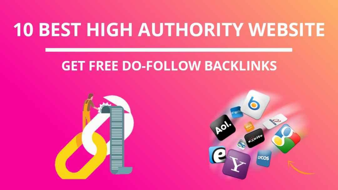 free High authority Backlinks