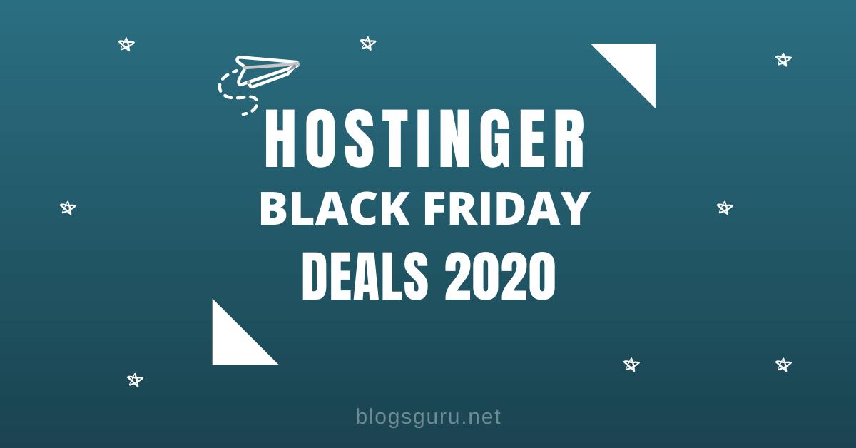 Hostinger Black Friday Deals upto 90