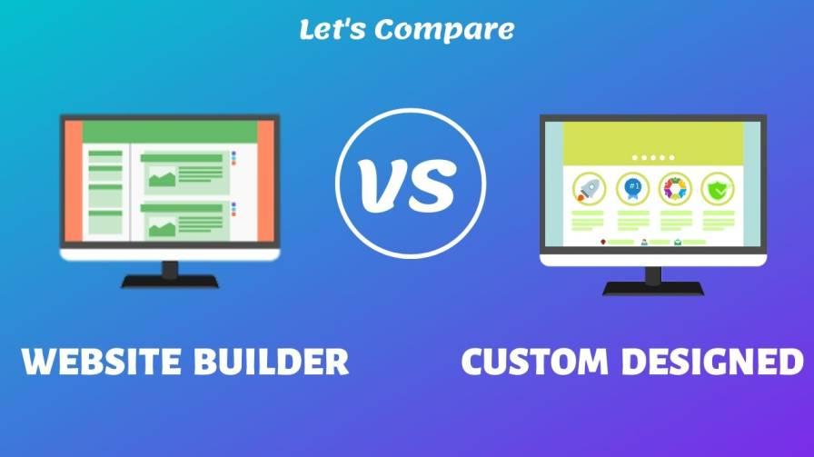 Website builder vs custom designed website