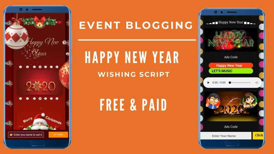 Happy new year wishing script by blogsguru