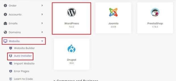 Install of WordPress 2