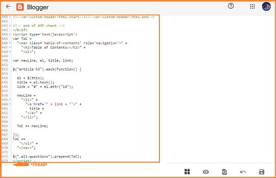 add CSS and JAVASCRIPT code HTML section