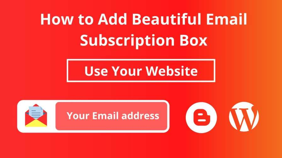 add beautiful email subscription box to your site