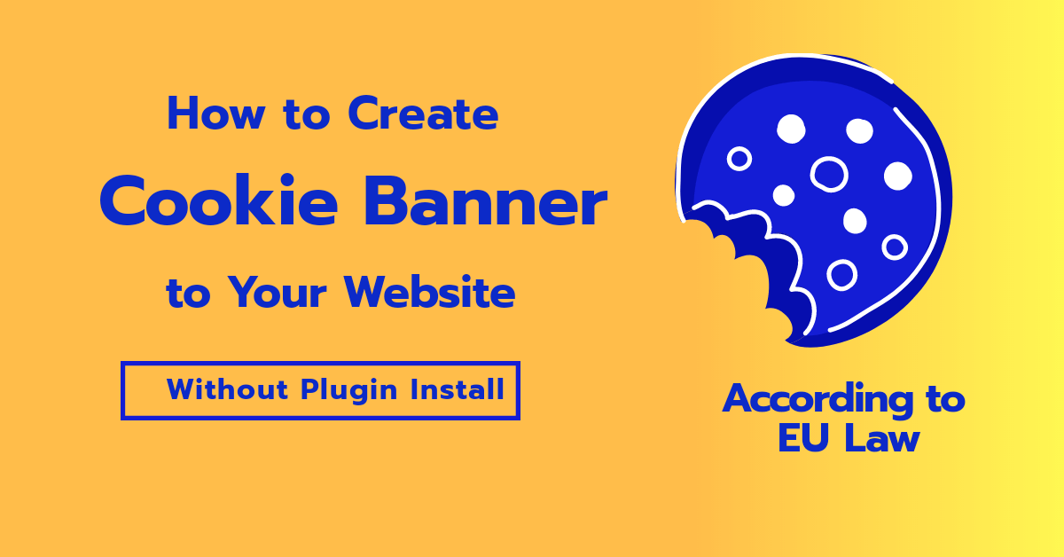 how to Create cookie banner to your Website