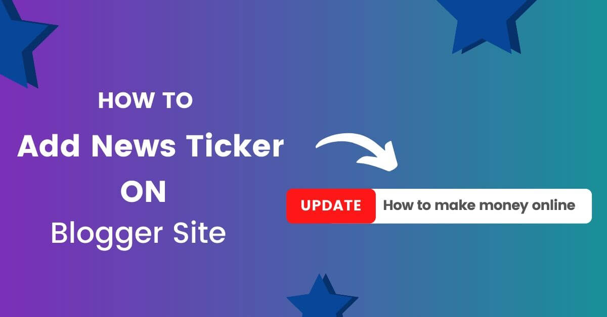 Add News Ticker on Blogger for free