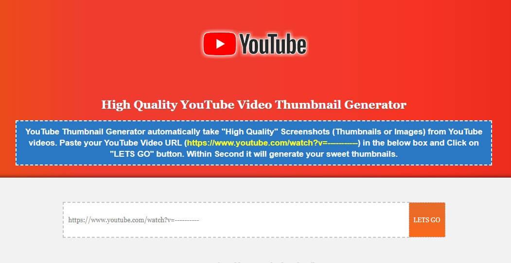 Youtube Thumbnail Downloader Script for blogger
