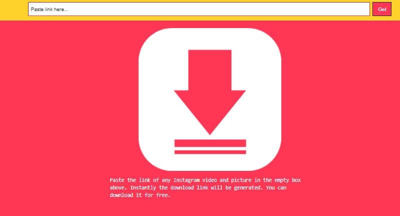 Instagram image Downloader tool