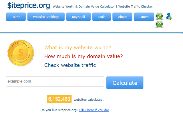 Siteprice Traffic Checker