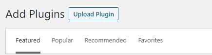 Upload Plugin to manually