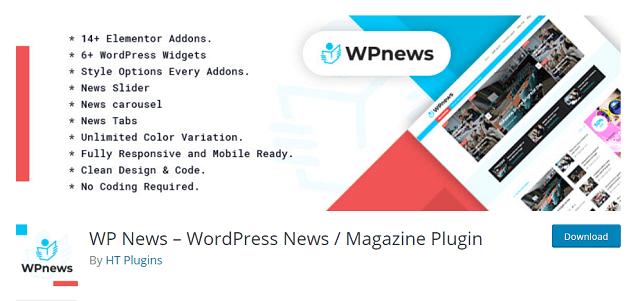 WP News plugins for WordPress