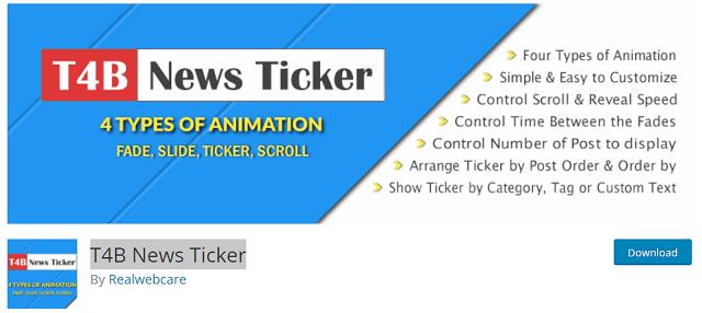 T4B News Ticker Plugin