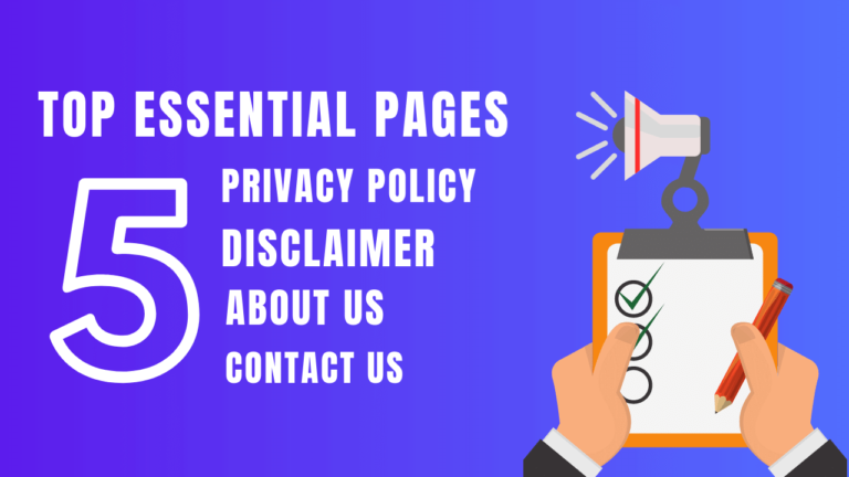 create-privacy-policy-contact-us-about-us-page
